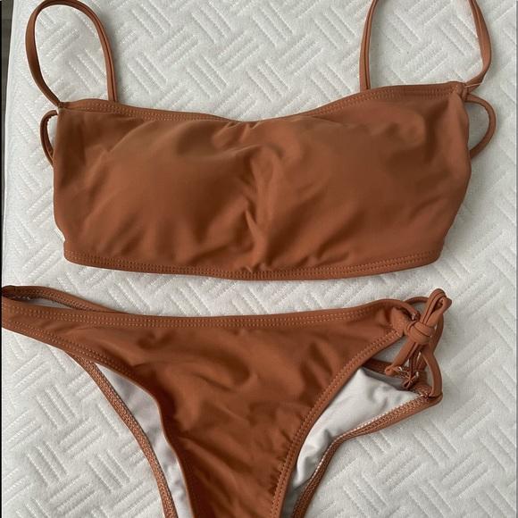 brown shein bikini NWT
